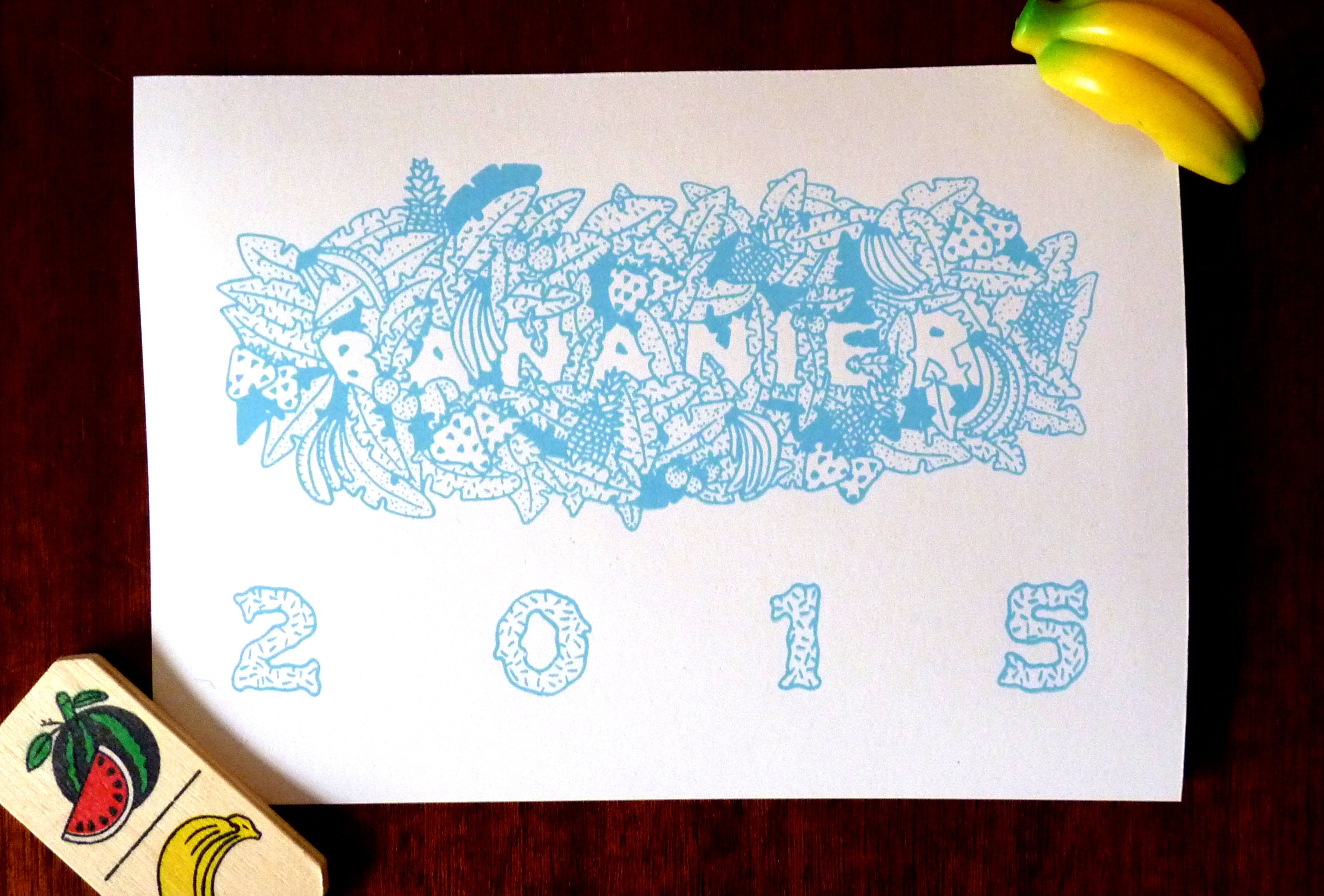 carte de bananier 2015 du collectif superfruit