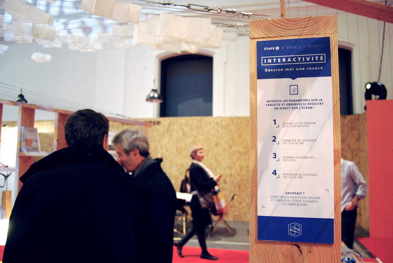 Panneau Interactivité au stand de Quaternion à Futurapolis 2015