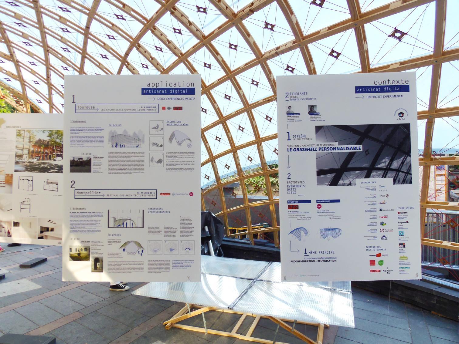 Panneaux application et contexte gridshell quaternion Architectes Ouvrent leur Portes métro Capitole Toulouse