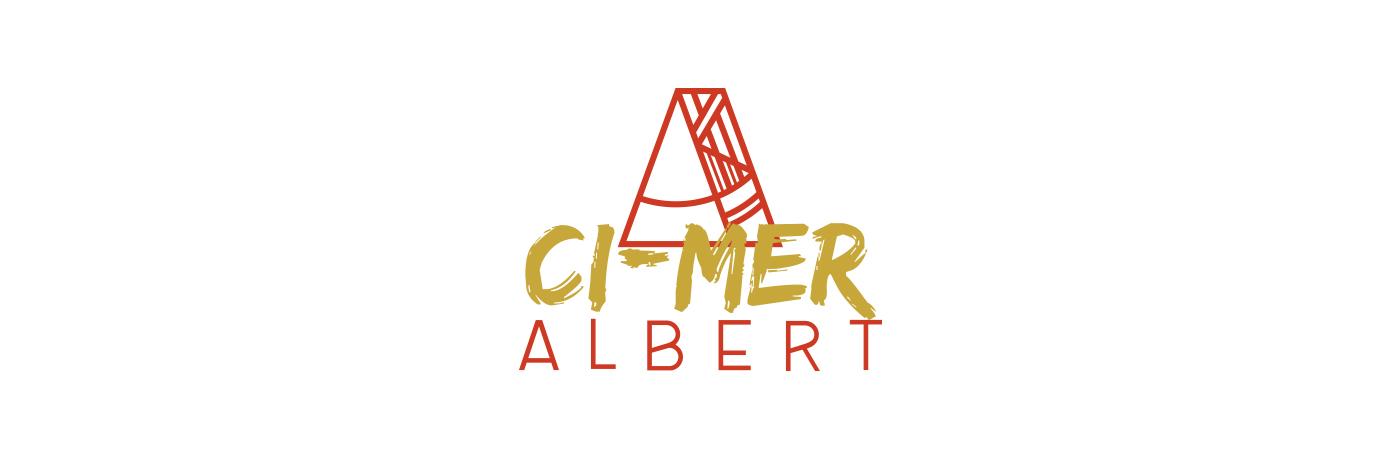 Déclinaison du logo Atelier Albert conçu par Superfruit