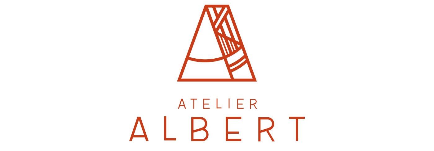 Logo Atelier Albert conçu par Superfruit