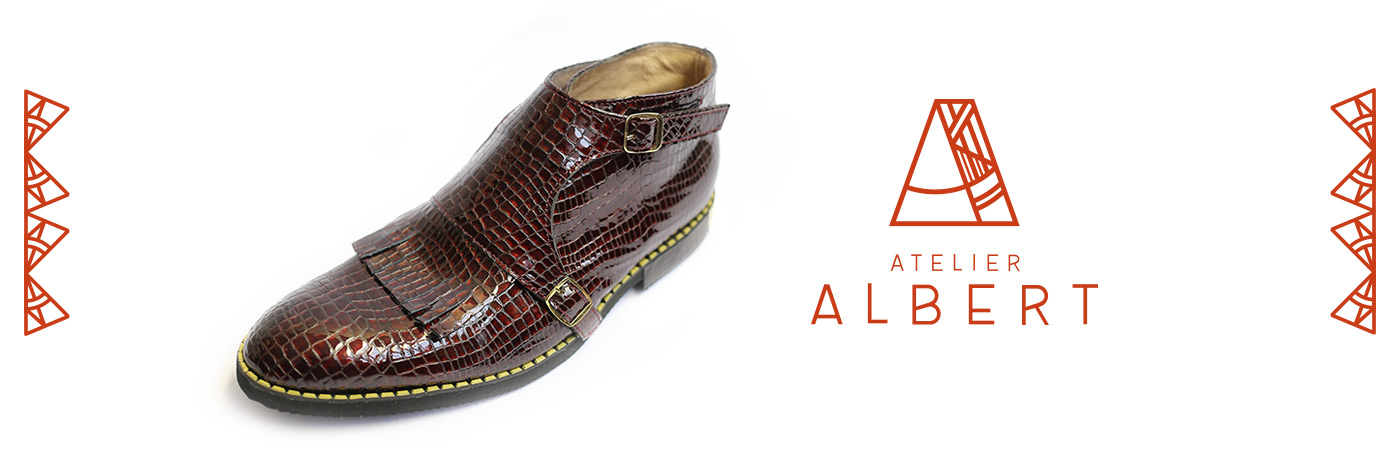 Photo d'une production Atelier Albert, avec utilisation du logo créé pour Atelier Albert par Superfruit