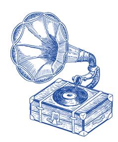 Illustration gramophone pour Malto réalisée par Superfruit