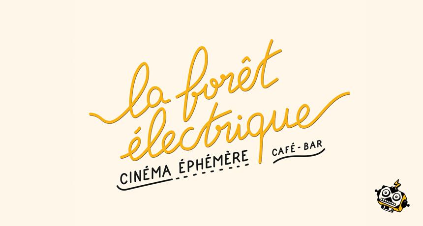 Thumbnail blog : typo de la Foret Electrique créée par Superfruit et illustration robot.