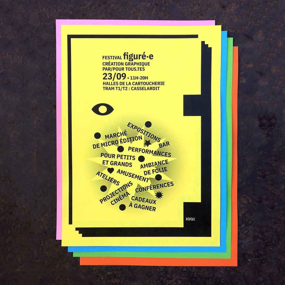 Affiche du festival Figuré.e organisé par le collectif Pépite