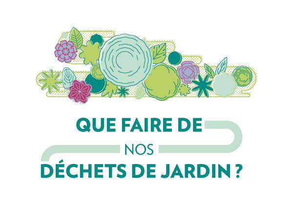 """Illustration Titre reprenant les éléments visuels de l'affiche France Nature Environnement pour la Campagne """"Que faire de nos déchets de Jardin"""" créée par Superfruit"""