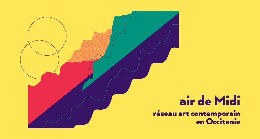 Thumbnail blog basé sur le visuel conçu pour Air de Midi réseau art contemporain en Occitanie créé par Superfruit