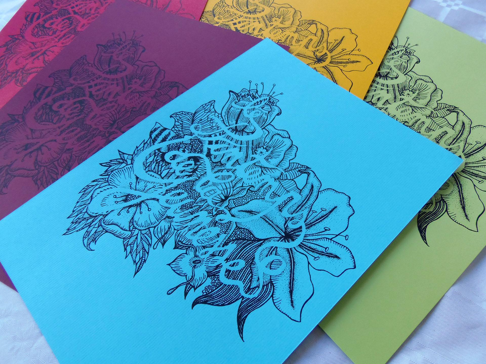 détail impression en serigraphie artisanale de superfruit pour le printemps de la jeunesse
