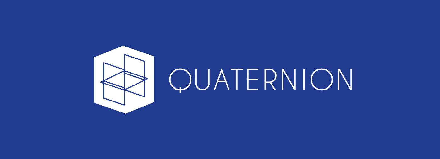 couverture du projet d'identite visuelle de quaternion. Logo créé par Superfruit