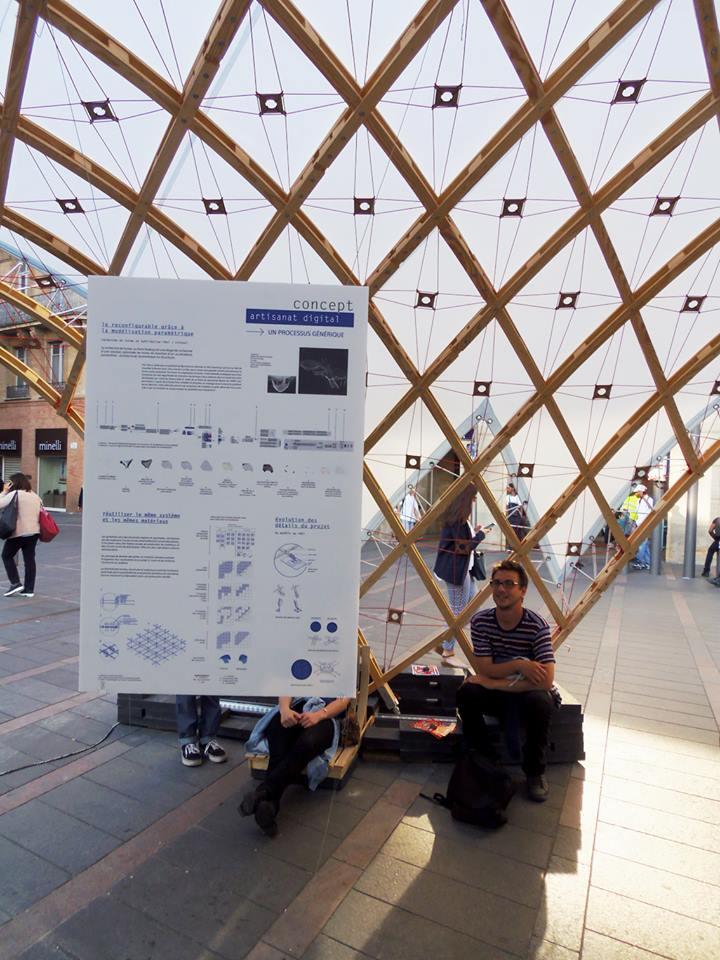Panneaux concept au gridshell de Quaternion pendant Architectes Ouvrent leur Portes métro Capitole Toulouse