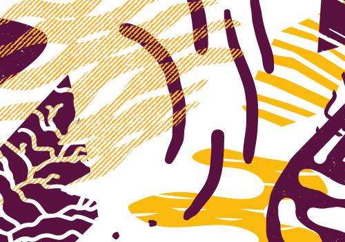 post blog : détail des motifs réalisés par Superfruit pour le Superbol 2018 qui se dérouler au Bol Rouge. Les visuels seront imprimés en sérigraphie pendant les ateliers des trois jours.