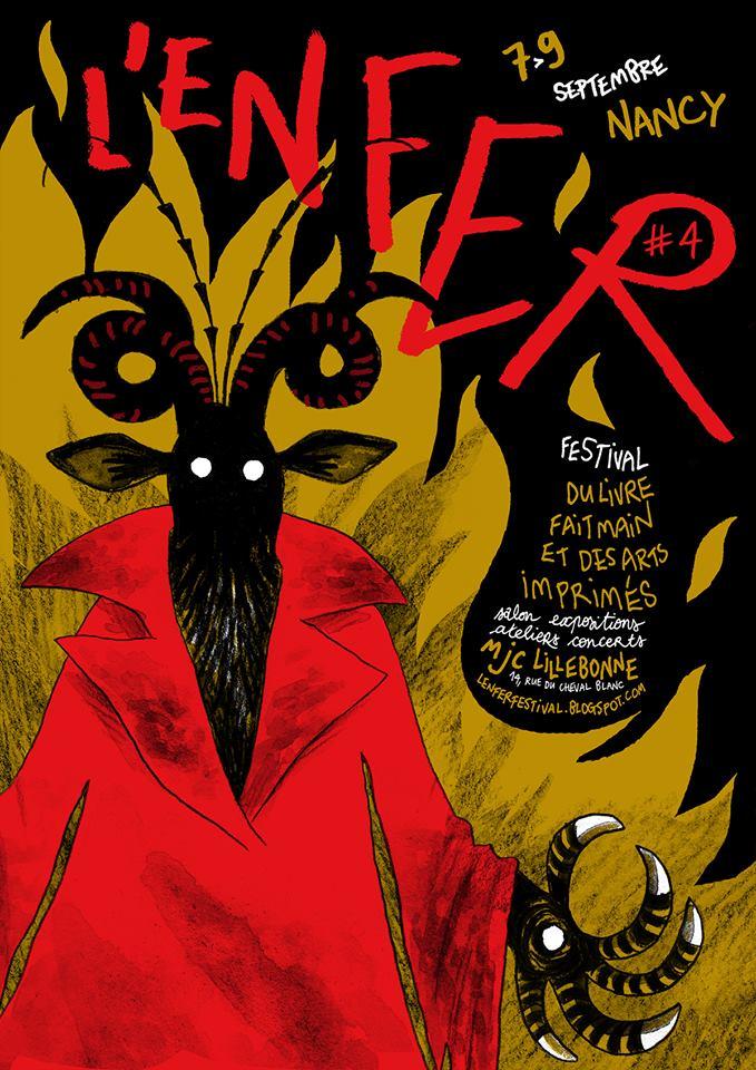 Affiche complète du festival de micro-edition l'Enfer à Nancy, septembre 2018.