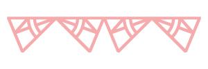 Motif rose atelier albert pointant vers le bas