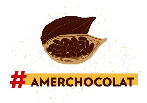 Mot clef amer chocolat, illustration de fèves de cacao pour le dossier FNE.