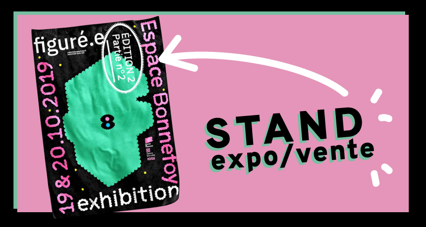 Visuel présentant l'affiche du festival Figuré.e organisé par le collectif Pépite à l'espace Bonnefoy
