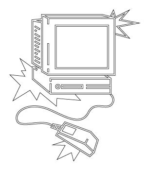 Illustration filaire vectorielle d'un vieil ordinateur fixe et sa souris pour fêter 2020