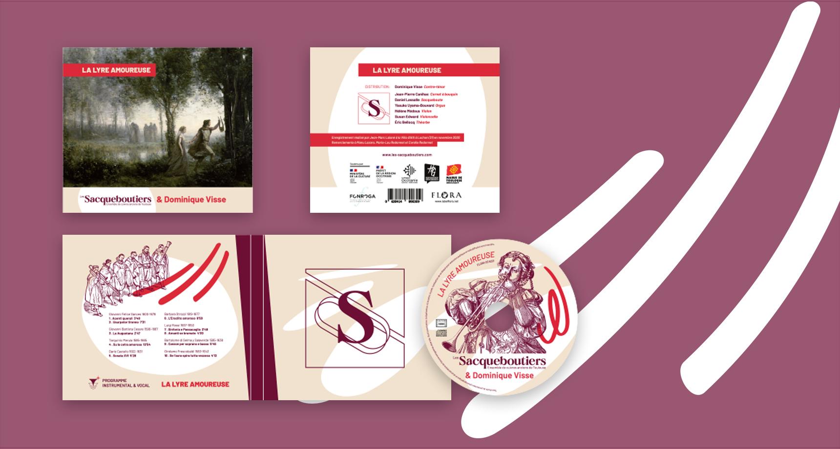 Présentation dans les news de l'habillage conçu par Superfruit pour le CD La Lyre Amoureuse, programme musical créé par les Sacqueboutiers