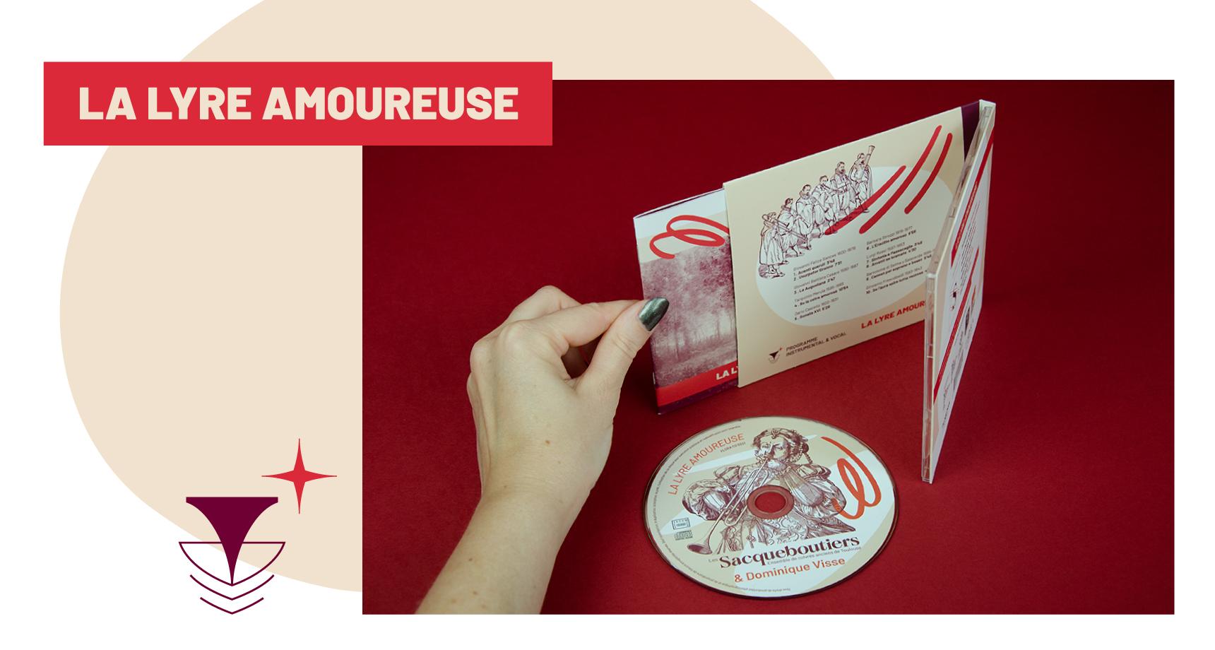 Post de blog : Photos et détails du CD, de la pochette et du livret réalisés par Superfruit pour le CD La Lyre Amoureuse des Sacqueboutiers